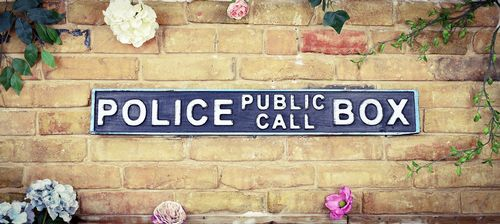 Police Call Box Tardis Sign (NEW) Vintage Road Sign / Street Sign